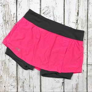 Under Armour Skirt Skort Built in Shorts Pink Sz M
